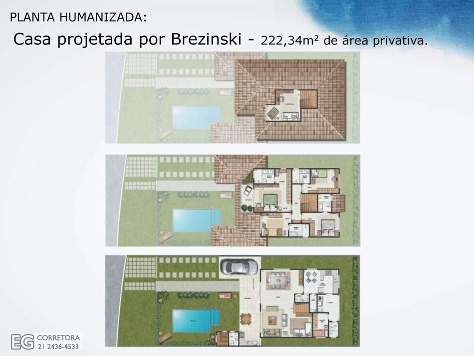 Planta Humanizada - 222,34m2 de área privativa.