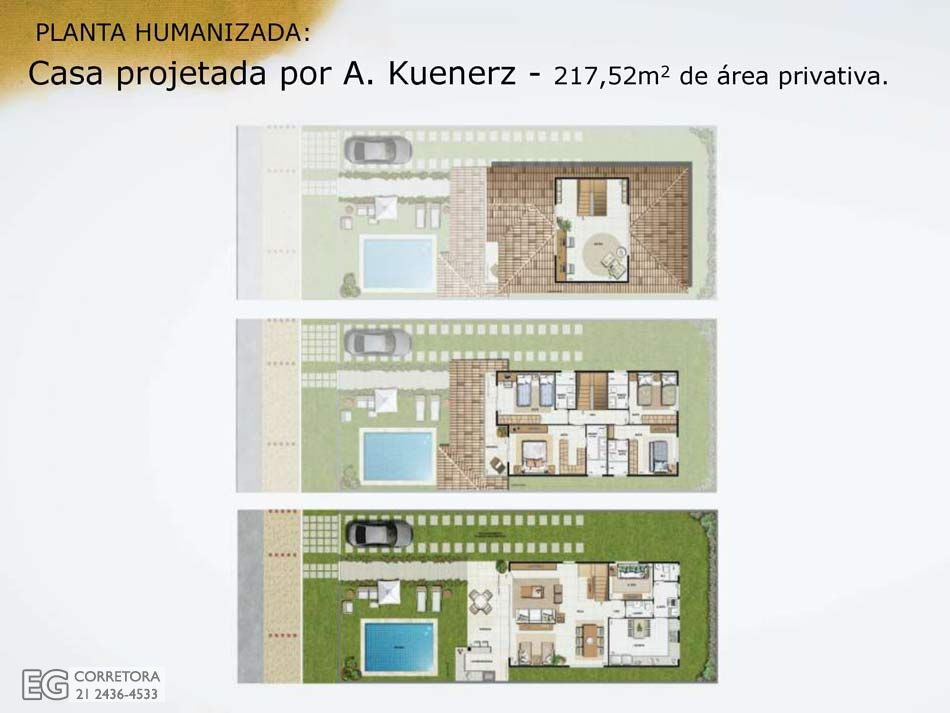Planta Humanizada - 217,52m2 de área privativa.
