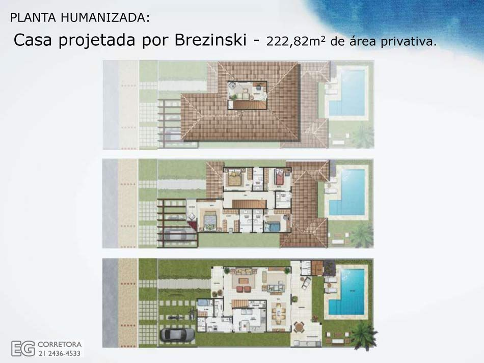 Planta Humanizada - 222,82m2 de área privativa.