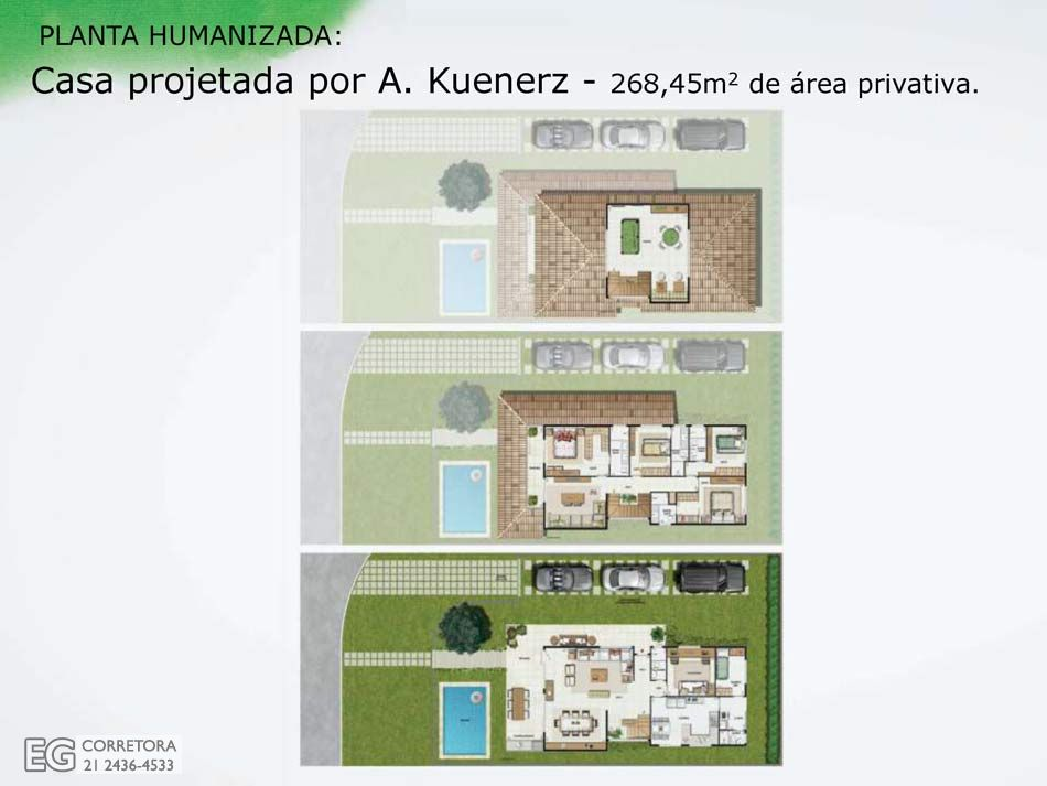 Planta Humanizada - 268,45m2 de área privativa.